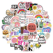 10/30/50PCS Friendship BFF Stickers Aesthetic DIY Waterproof Phone Water Bottle Laptop Graffiti Decals Sticker Packs Kid Toy