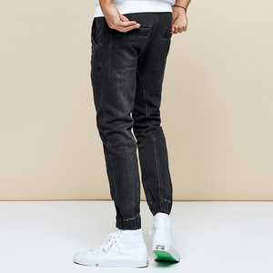 Image 4 - KUEGOU 2019 Autumn Cotton Black Skinny Jeans Men Streetwear Brand Slim Fit Denim Pants Male Biker Classic Stretch Trousers 2979