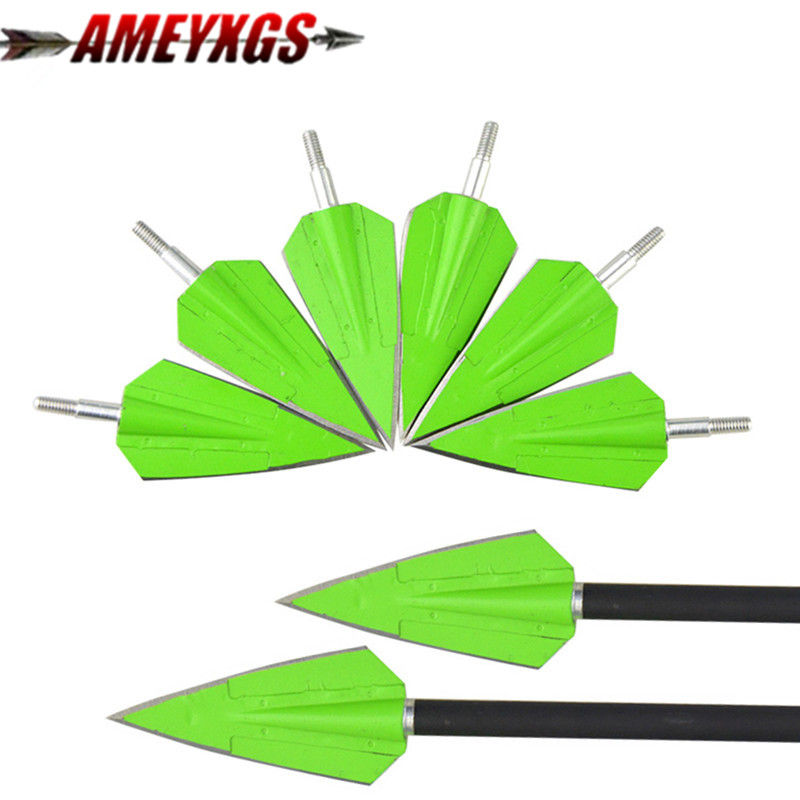 3/6/12pcs Archery Hunting Arrowhead 150gr 2 Fix Blade Point Tips Screw In Broadheads Bow And Arrow Hunting Shooting Accessories Bow & Arrow    - title=