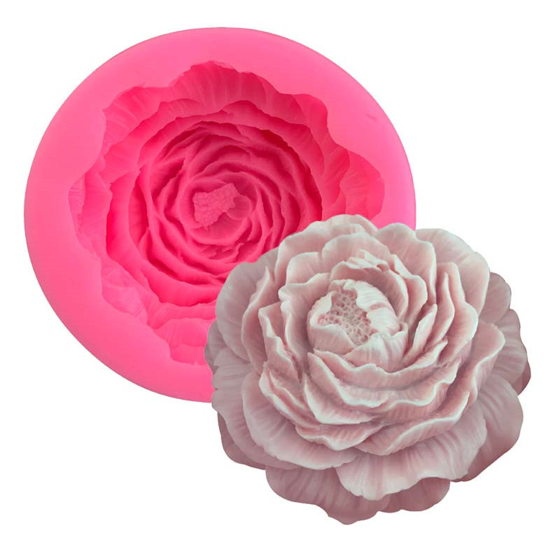 3D Poney Flower Silicone Soap Mold Candle Mold Form Mould Fondant Cake Decorating Tools Home Kitchen Supplies