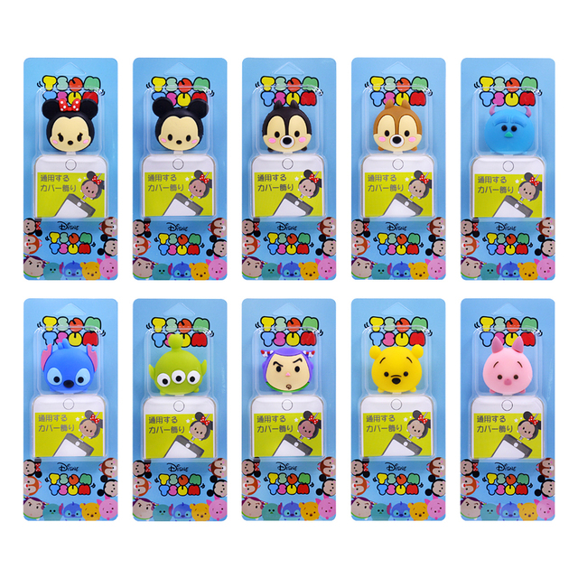 Cute Cartoon Bite Animal Cable Protector for iPhone USB Data Cable Chompers Charger Wire Winder Organizer Doll Model hellokitty