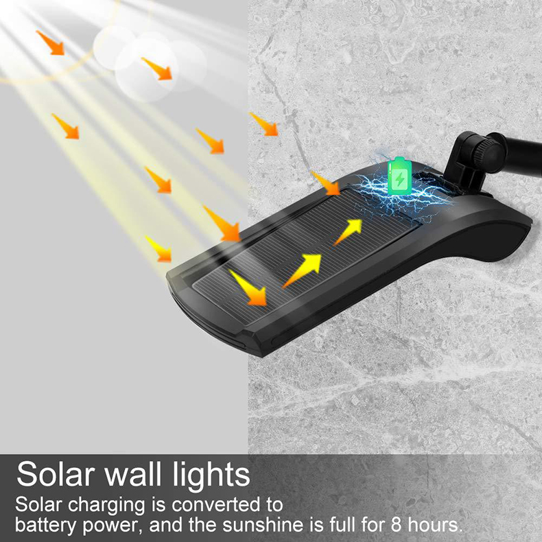 Outdoor Solar Wall Light with 180 Degree Rotating Struts in 3 Sensor modes for Stair and Garden Pathway 10