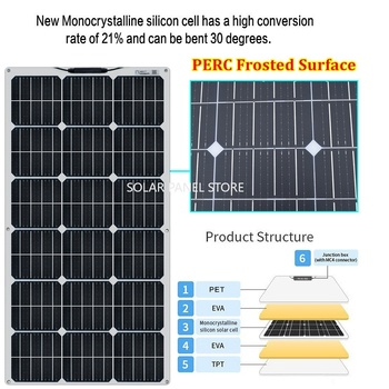 Boguang 100W solar panel 200W 300W 400W kit Panneau solaire flexible for 12V 24V battery car RV home outdoor Power charging 3
