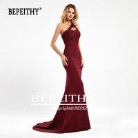 BEPEITHY Mermaid Burgundy Long Bridesmaid Dresses 2020 Sexy One Shoulder Vestido De Fiesta De Noche Wedding Party Gown For Women