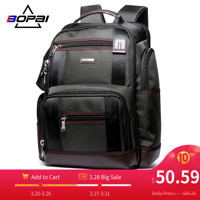 Large Capacity Men Travel Backpack Multi Pockets Nylon Male Mochila Black Rucksack For School Multifunction Laptop Backpack Bag