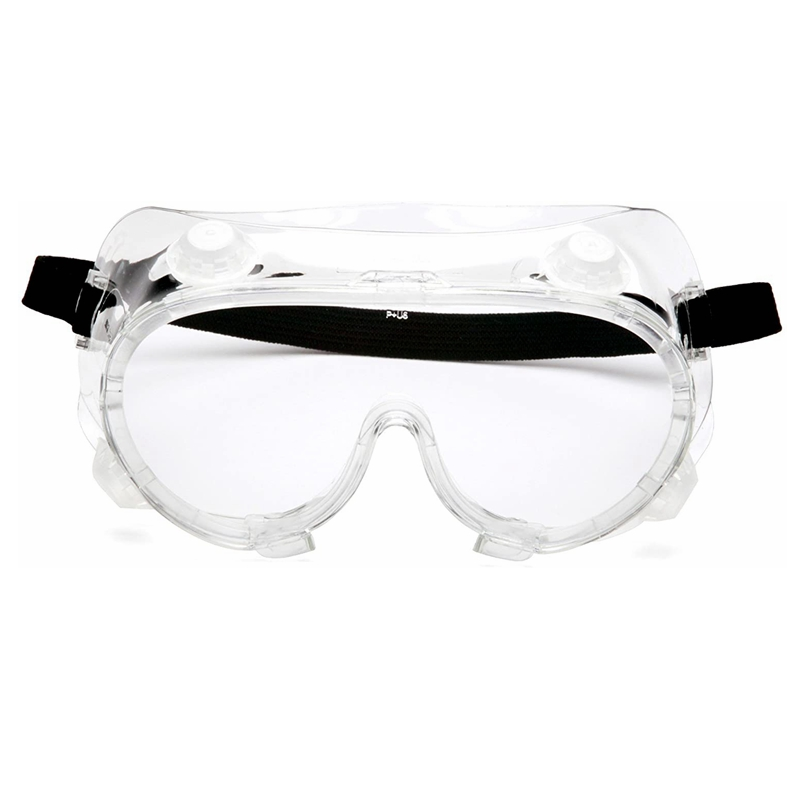 Chemical Splash Anti-fog Goggles Chemical Splash Goggle Features Vent Caps To Restrict Influx Of Liquids Soft Rubber Material