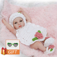 NPK 25cm Reborn Baby Doll Soft Silicone Vinyl Real Soft Gentle Reborn Baby Doll White Sweater Girl Toys For Children Birthday npkcollection full silicone reborn girl body dolls soft silicone vinyl real gentle touch bebe new born real baby toys for kids
