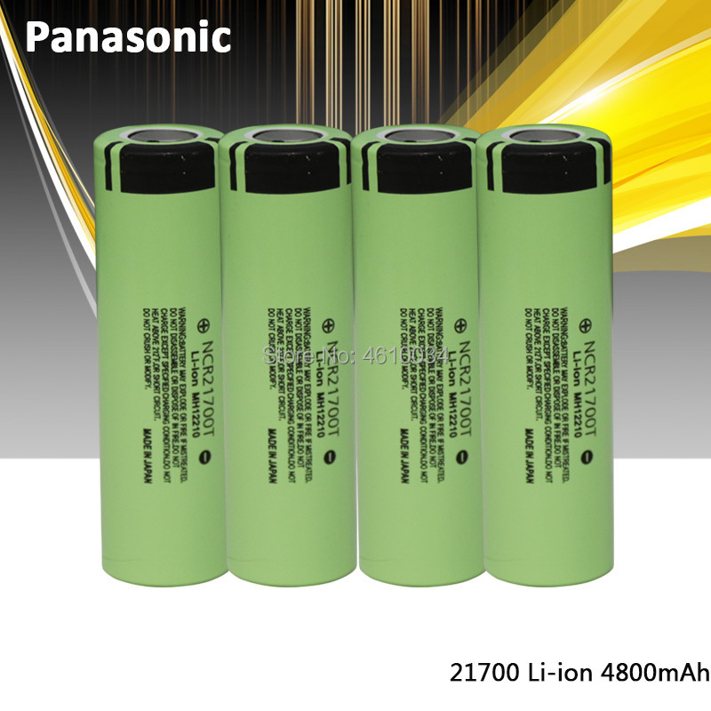 Panasonic 21700 NCR21700T Rechargeable Lithium 4800mAh 3.7V Power Battery High Discharge High Drain Li-ion Battery HD Cell