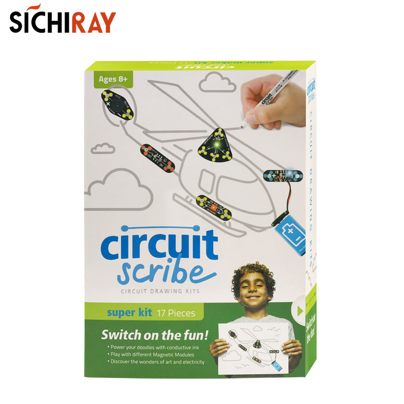 Circuit Scribe Super Kit Diy Tekening Circuit Op Papier Met Elektrische Inkt Elektronische Kits Voor Kinderen Educatief Speelgoed - 2
