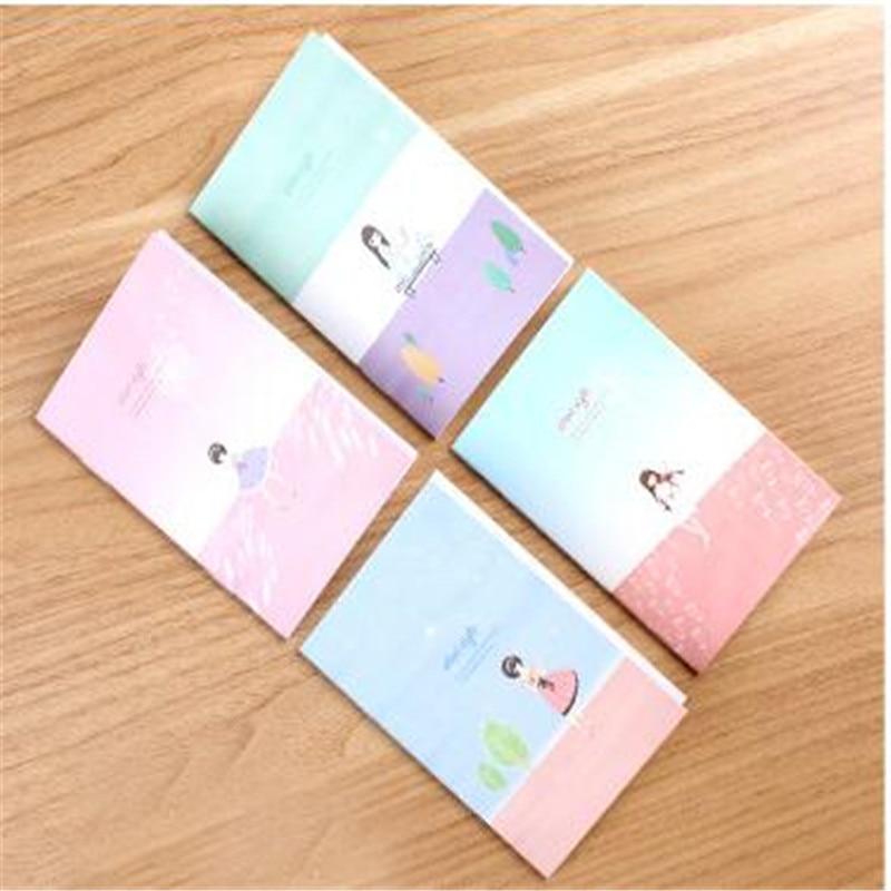 1pcs=16sheets Small Fresh Diary  Student Notebook Stationery Cartoon Pocket Portable Small Notebooks Size 10.5*7cm