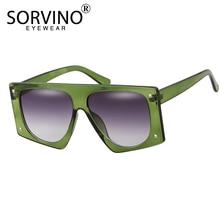 SORVINO Vintage Shades For Women Luxury Visor Sunglasses Men 2020 Oversized Futu