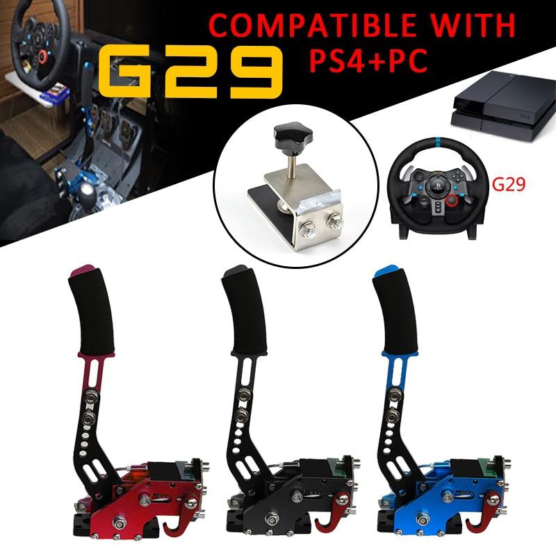 PS4 + PC G27/G29/G920 T300RS Logitech Sistema di Freno Freno A Mano USB Freno A Mano + Morsetto Per Le Corse giochi di 2019 Auto Parti di Ricambio