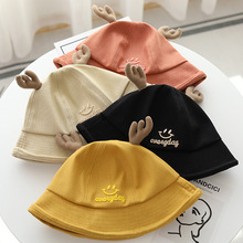 Bucket-Hat Fisherman-Hat Spring Japanese Female Summer Cute Casual Soft Embroidery Antler