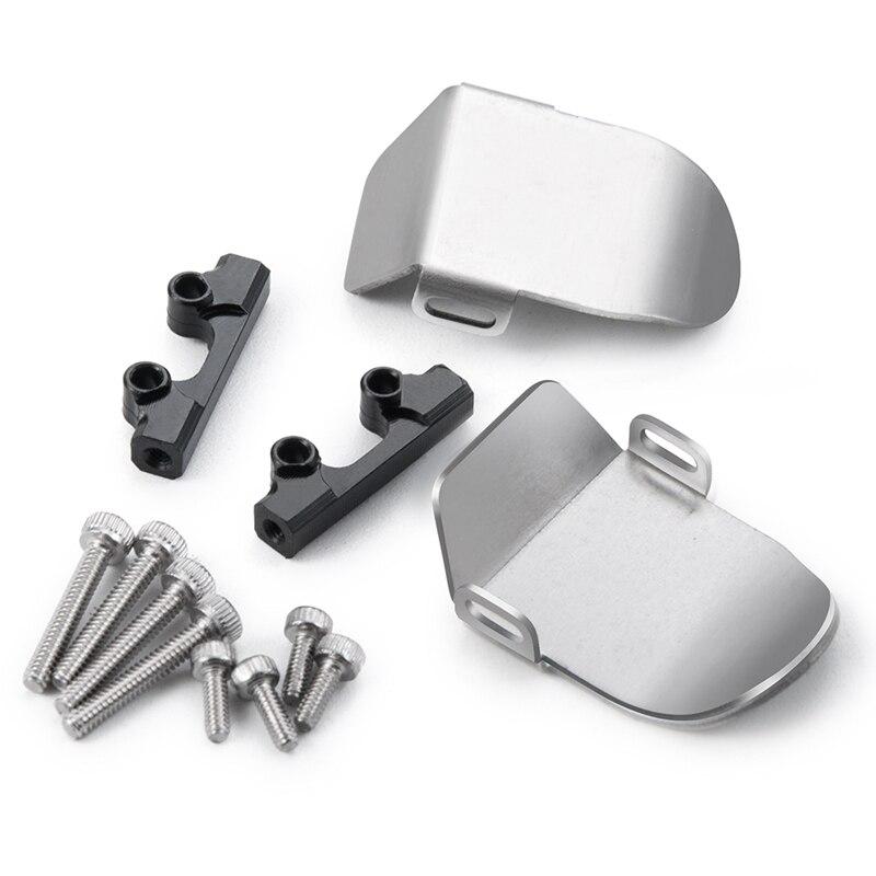 Pour Axial SCX24 90081 124 RC chenille mise à niveau pièces en acier inoxydable châssis armure essieu protecteur plaque accessoires