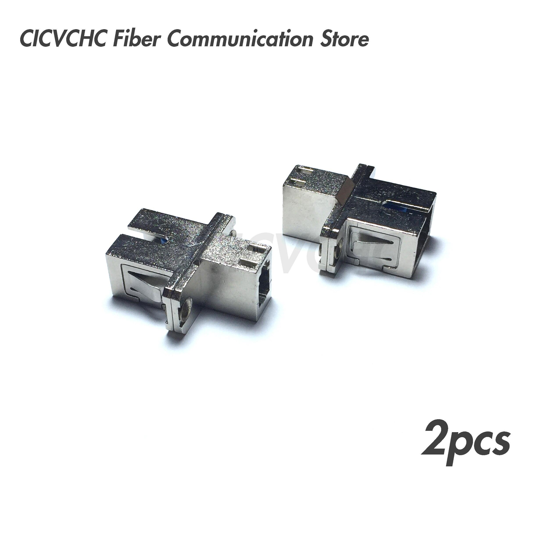 2 uds SC/UPC (hembra)-LC/UPC (hembra) adaptador de fibra óptica monomodo-Adaptador de acoplamiento híbrido 500M al aire libre LC UPC dúplex gota FTTH Cable LC monomodo dúplex G657A Cable de parche de fibra óptica FTTH Cable de fibra óptica