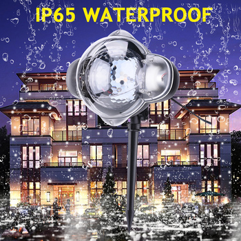 LED Snowing Projector Light Christmas projector Outdoor Garden image Landscape Lamp Spotlight  Moving Snowing Decoration D30 12 type rgb led snowflake projector light garden landscape light lawn lamp christmas light outdoor holiday decoration spotlight