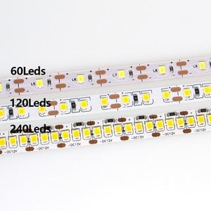 Image 2 - DC 5V 12V 24V SMD 2835 Led Strip Light 5m White LED Strip Tape Not Waterproof Lamp Light Strips Kitchen Home Decor TV Ledstrip