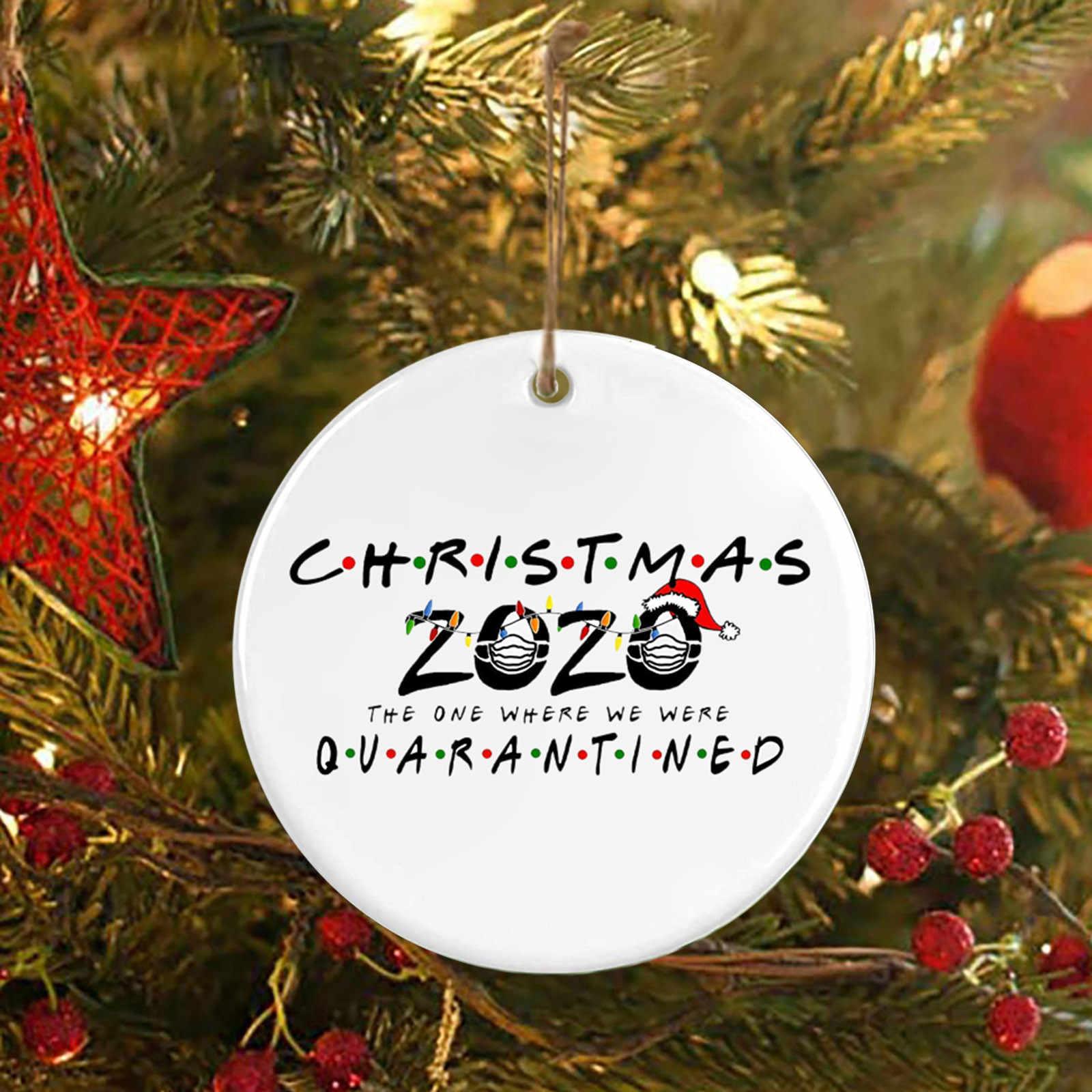 Christmas Wood Sign Ornaments Gifts 2020 Xmas Tree Door Board Hanging Decor