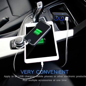 Hot Onever Auto Accendisigari Presa di Alimentazione Splitter Adattatore di Alimentazione Auto styling DC 12 Volt 3.1A 80w Dual presa di Ricarica USB Blu|Adattatore di alimentazione|Automobili e motocicli - Shop5161029 Store
