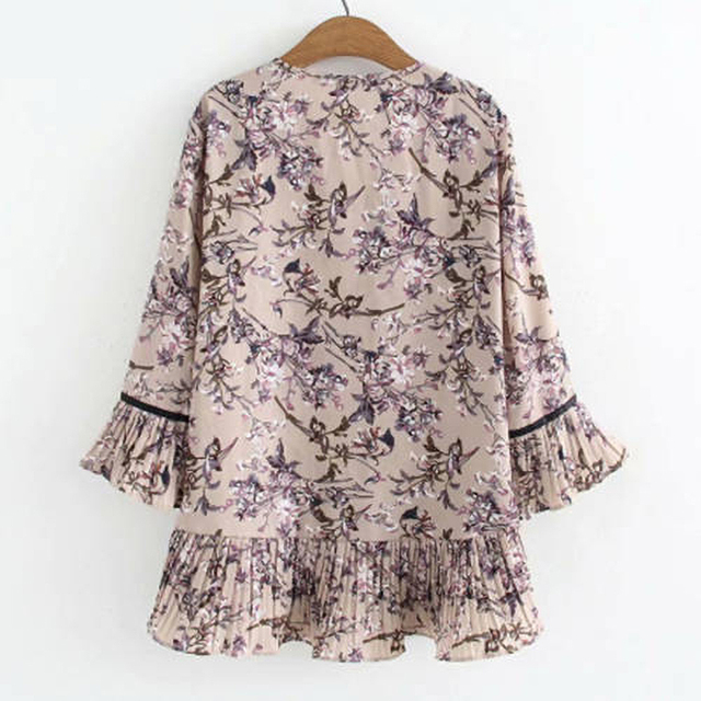 chiffon top floral print loose and free 3