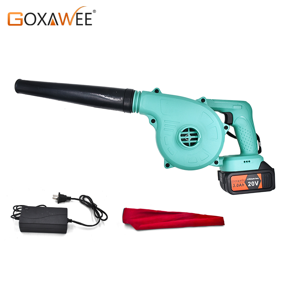 GOXAWEE Electric Air Blower Vacuum Cordless Cleaner Air Blower Dust Blowing Dust Computer Dust Collector Hand Operat Power Tool