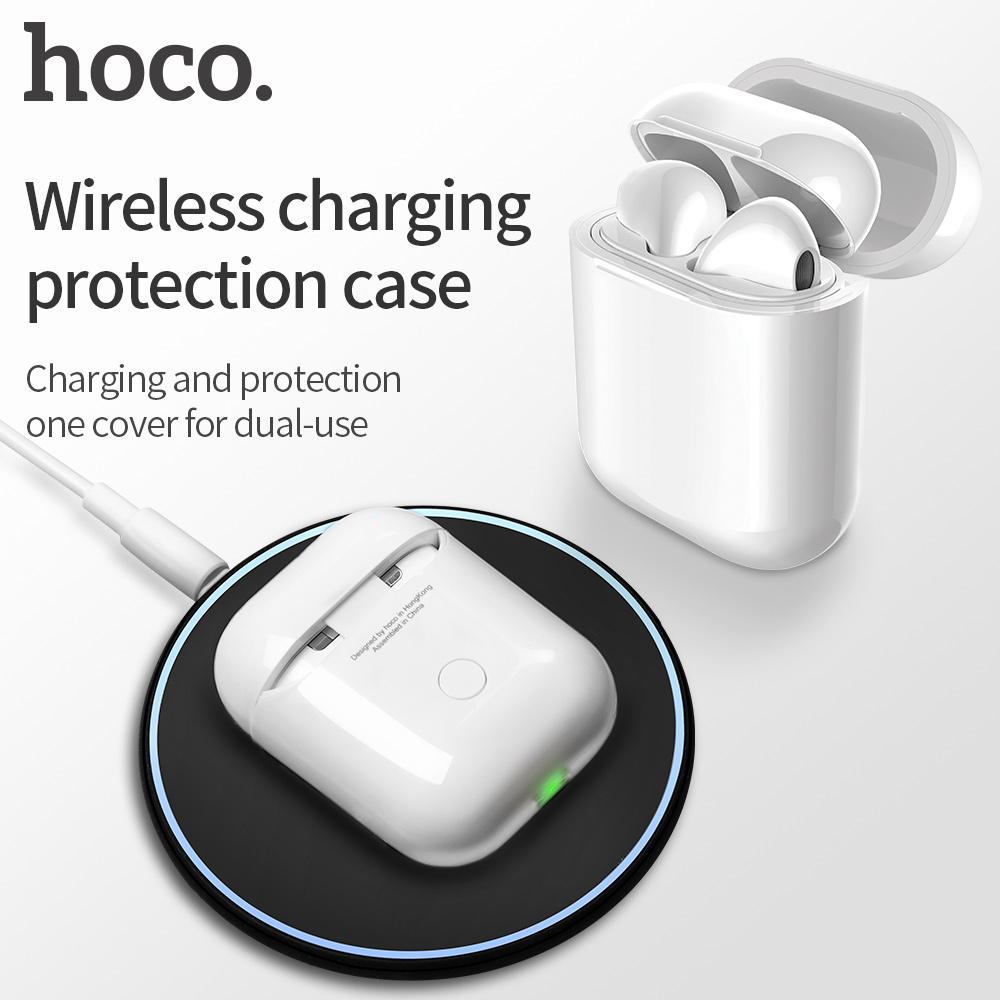 HOCO Wireless Charging Receiver Case For Airpods Headset Accessories Silicone Protective Cover Wireless Charger For Apple AirPod