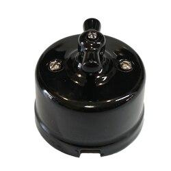 Одноблочный двойной способ Винтаж Керамика Поворотный Светильник переключение 240V,10A