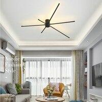 Nordic Mode Schwarz Decke Leuchten AC 220V 110V Schlafzimmer Decke Montieren LED Lampe für Wohnzimmer Esszimmer room Home Decor-in Deckenleuchten aus Licht & Beleuchtung bei