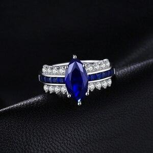 Image 2 - Jewelrypalace 高級作成ブルーサファイアリング 925 スターリングシルバー女性の婚約指輪シルバー 925 宝石ジュエリー
