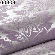 3D grigio viola marrone bianco goffrato damasco carta da parati camera da letto soggiorno sfondo motivo floreale carta da parati testurizzata decorazioni per la casa