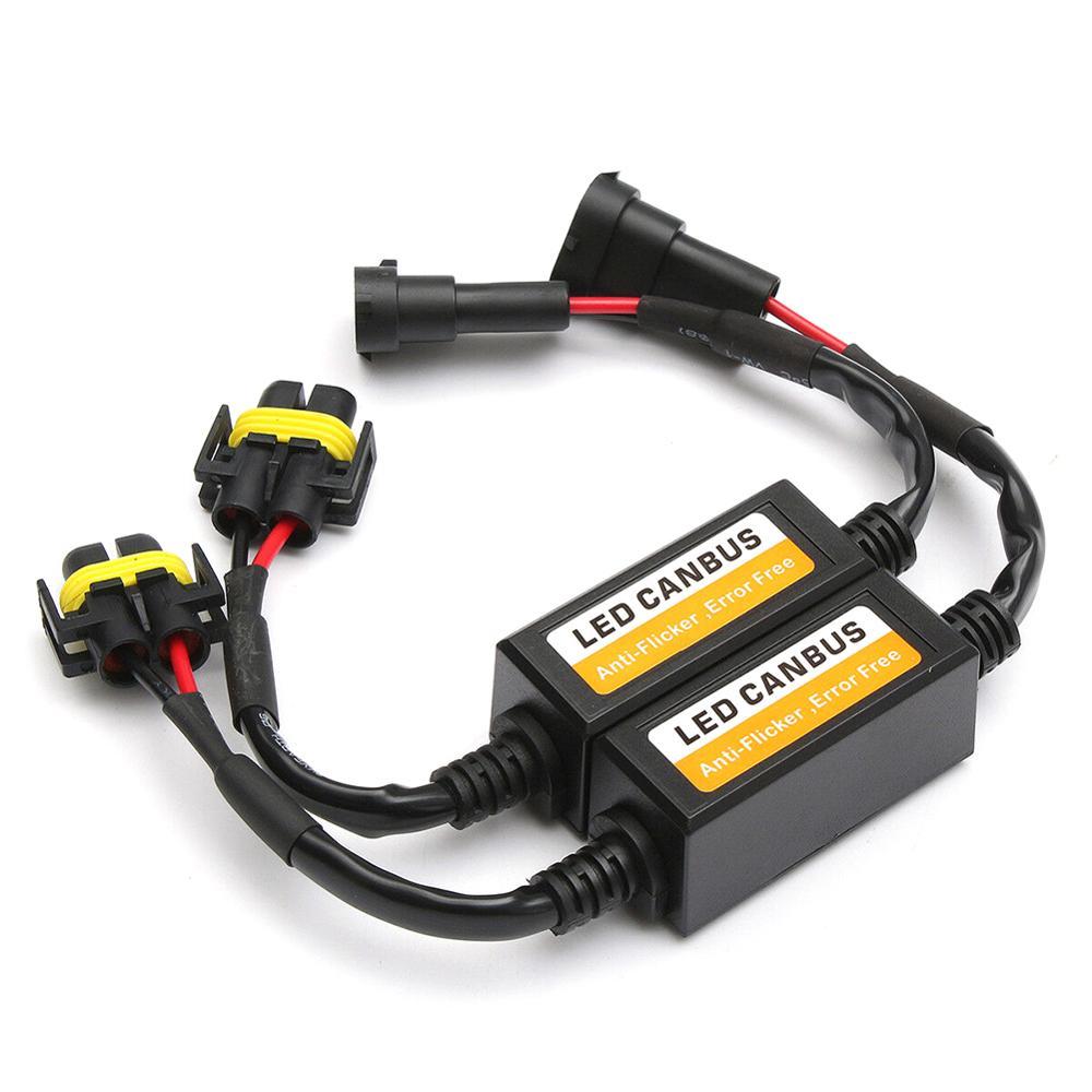 2x H11 Canbus Wiring Decoder Adapter Anti Hyper Blink Flash Error Cancel Canbus Headlight H8 H9 LED Headlight Canceller Decoder