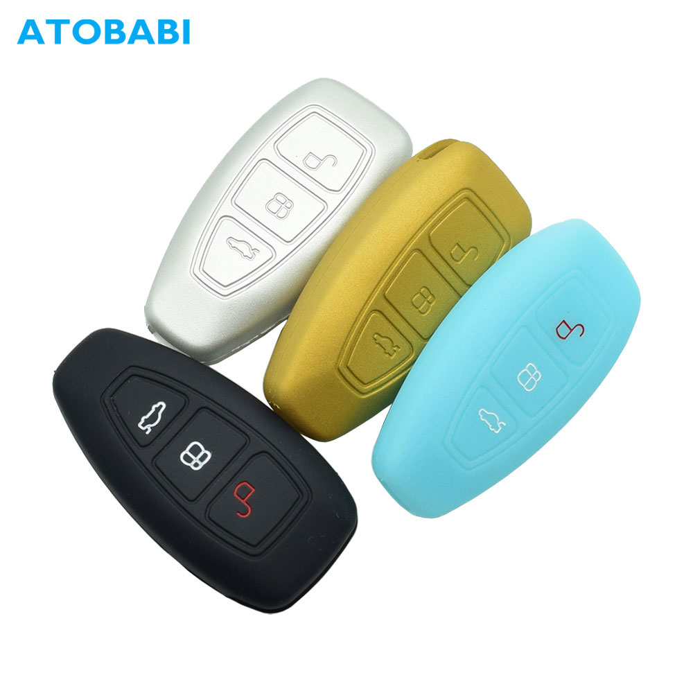 BE Remote Key Cover Silicone Car Key Case Keyless Entry Car for Ford Focus 3 Escape Fiesta ST Titanium Mondeo Ecosport Kuga MK3 3 Buttons Black