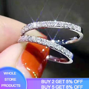 YANHUI Genuine 100% 925 Solid Silver Simple Geometric Round Single Stackable Finger Rings For Women Engagement Wedding Jewelry