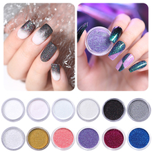 2g 1Box Holographic Glitter Powder Shining Sugar Nail Hot Sale Dust for Art Decorations