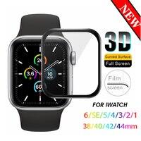 Protector de pantalla 3D para Apple Watch, Nano película no templada para Apple Watch 6 se 5 40mm 44mm, película recubierta iwatch 4 3 2 38mm 40mm