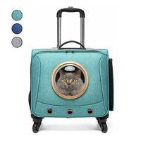Hands free Pet Dog Cat Carrier Trolley Case Space Capsule Travel Bags For Small Dogs Chihuahua Stroller Car Travel Accessories
