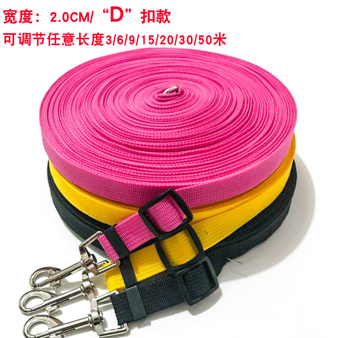 Hot Selling Pet Dog Hand Holding Rope Retractable Supplies Dog Training Lanyard D Ring Ultra-Long Lengthen