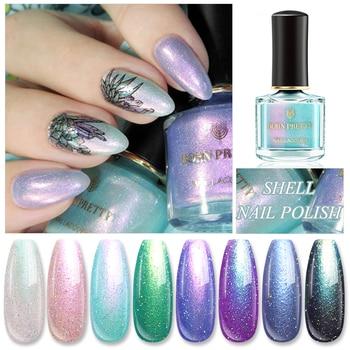 BORN PRETTY 6ml Pearl Nail Polish Green Purple Color Art Glitter Shining  varnish Varnish