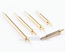 100 Uds primavera cargado conector pin pogo 9,5, 10,0, 11,0, 11,5, 12,0, 12,5, 13,0, 13,5, 14,0, 16,0, 18,0, 20,5mm de altura, PCB, agujero pasante
