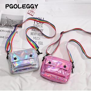 Image 5 - PGOLEGGY lazer kadınlar için Crossbody çanta 2019 moda çanta lüks kadın PU deri omuz çantaları seyahat için su geçirmez çanta