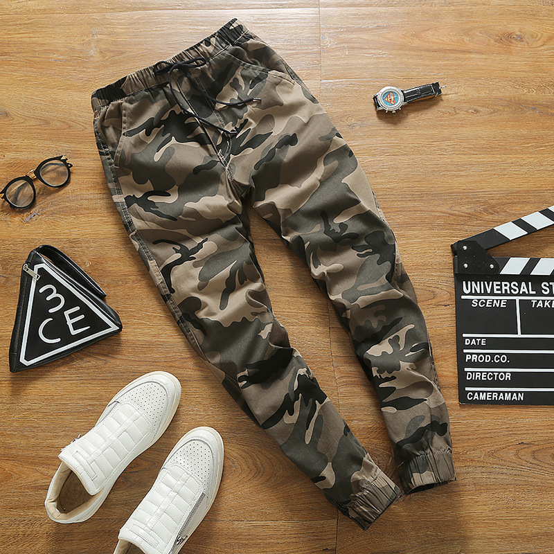 Camouflage Pants Men's Autumn Loose-Fit Hot Selling BF Style Couples Casual Pants Korean-style Trend Autumn Beam Leg Skinny Hare