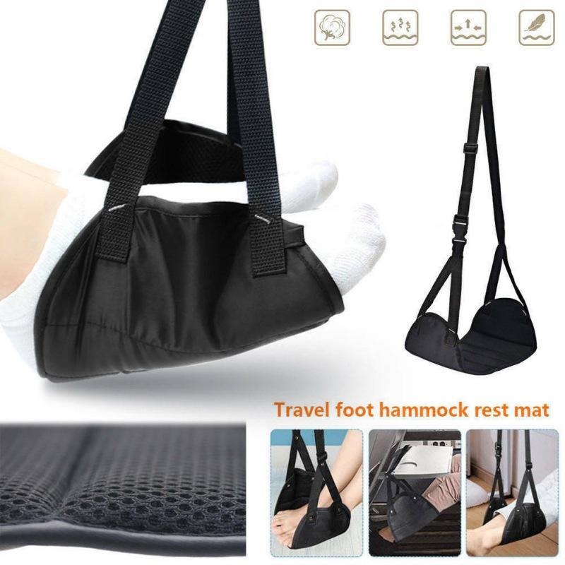 Foot Rest Hammock Portable Travel Footrest Flight Carry-on Foot Rest Office Feet Rest Leg Hammock Travel Accessories