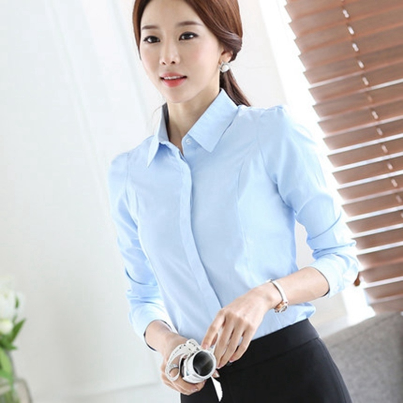 Women Tops Blouses 2020 Spring Summer Elegant Long Sleeve Lapel Office Blouse Female Work Wear Shirts Blusa Plus Size 5XL