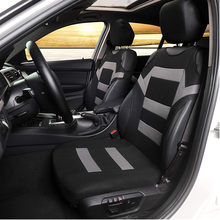 цена на 2PCS Front Breathable Car Seat Cover T-Shirt Striped Design Universal Coves Seat Protector Polyester Fabric