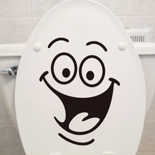 Cartoon creative smiley stickers bathroom waterproof and electric wall stickers bathroom decoration stickers self-adhesive paper