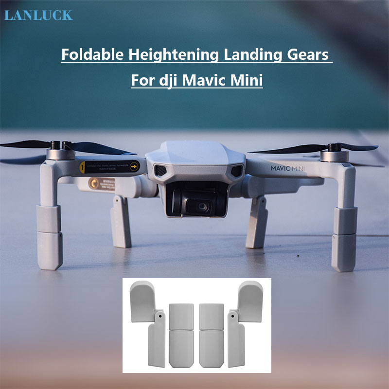 For DJI Mavic Mini Extended Landing Gear Leg Foldable Support Protector Extensions For DJI Mavic Mini Drone Accessories