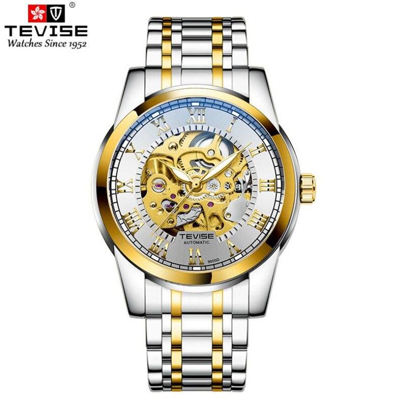 Новинка 2020, часы со скелетом TEVISE, механические Автоматические часы, мужские спортивные часы, повседневные деловые светящиеся наручные часы,...