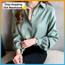 Новая женская простая элегантная рубашка большого размера Женская