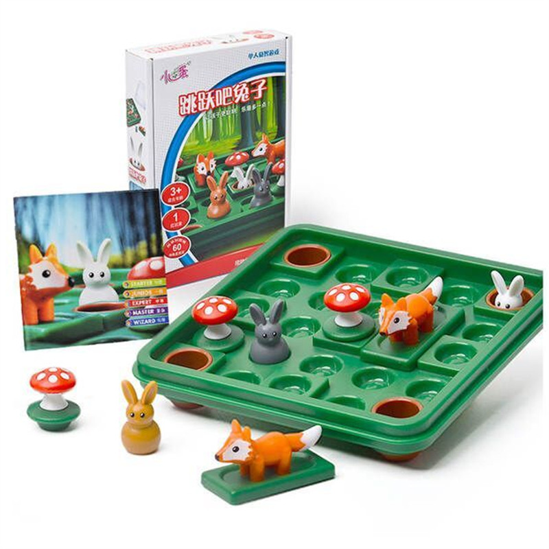 Funny Rabbit and fox early education educational toys logic space thinking Reasoning Family Party Game image