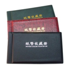 20 Pages photo Album Paper Money Album Holders Currency Banknote album for coins Collection Postage Stamps Pocket Holder Book 10pcs pvc money banknote paper money album page collection holder sleeves 3 slot loose leaf sheet portable protection album